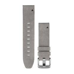 Zamjenski remen GARMIN QuickFit 20 za fenix 5S - sivi kožni