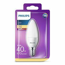 Žarulja LED PHILIPS E14, B35, 5.5W, topla matir