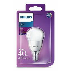 Žarulja LED PHILIPS E14, P45, 5.5W, matir