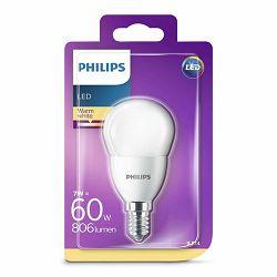 Žarulja LED PHILIPS E14, P48, 7W, topla matir