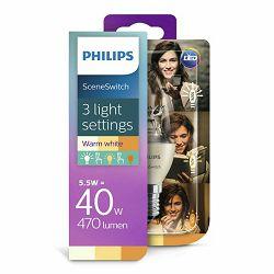 Žarulja LED PHILIPS E14, SSW, 5.5W, topla