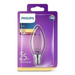 Žarulja LED PHILIPS E25, B35, 2W, topla, prozirna