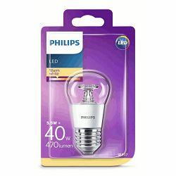 Žarulja LED PHILIPS E27, P45, 5.5W topla prozirna