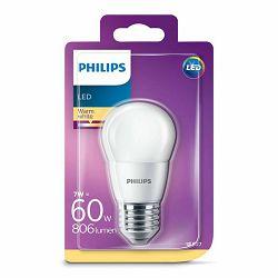 Žarulja LED PHILIPS E27, P48, 7W, topla matir