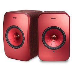 Zvučnici KEF LSX crveni (Wi-Fi, Bluetooth)