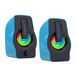 Zvučnici RAMPAGE RMS-G7 FALSETTO, LED osvjetljenje, 6W, 2.0, plavi