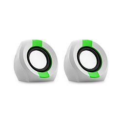 Zvučnici SNOPY ICON202, 2W, 2.0, bijelo zeleni