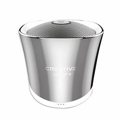 Prijenosni zvučnik CREATIVE Woof3 kromirani (Bluetooth, baterija 6h)