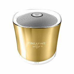Prijenosni zvučnik CREATIVE Woof3 zlatni (Bluetooth, baterija 6h)