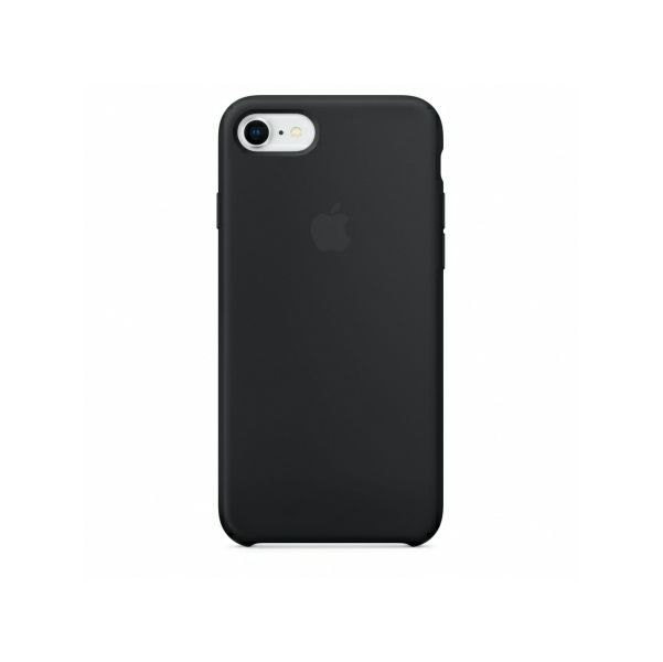 Maska Silikonska Apple Iphone 8 7 Silicone Case Crna
