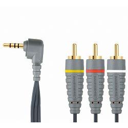 Kabel BANDRIDGE BVL4202, VIDEO kabel 3.5MM A/V kabel, 3.5MM AV - 3 X RCA M, 2M