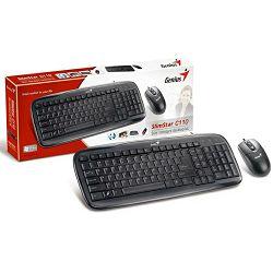 Genius SlimStar C110, tipkovnica i miš, PS2, crna
