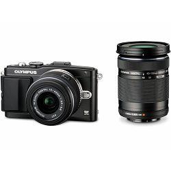 Fotoaparat OLYMPUS PEN E-PL5 crni + objektiv Zuiko Digital ED 14-42mm II R 1:3.5-5.6 + ED 40-150mm 1:4.0 5.6 R + Espod CX 203AP