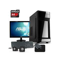 Stolno računalo HYPER X 291 AMD A4 6300/4GB DDR3/500GB SATA3/560W/Monitor/Miš/Tipkovnica/Podloga za miš/Zvučnici